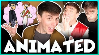 Becoming a CARTOON! | Thomas Sanders feat. Butch Hartman!