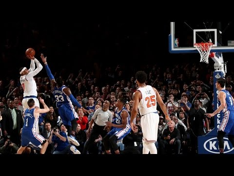 Carmelo Anthony with 2 Clutch Baskets! Crunch Time in New York!