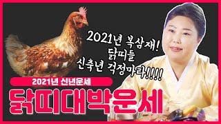 """2021년 신축년 복삼재❤ 닭띠신년운세 """"숨통이 탁 트이는 닭띠는 몇년생!?"""" / 인천용한…"""