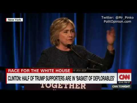 Hillary Clinton Half of Trump supporters are in 'BASKET OF DEPLORABLES' @Mr_Pinko ORIGINAL VIDEO