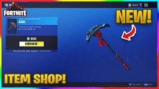 *NEW* A.X.E PICKAXE IN FORTNITE! | Fortnite Item Shop (Nov 19, 2018)
