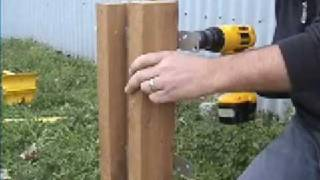 Wrapping Steel Posts With Wood When Building Wood Fence