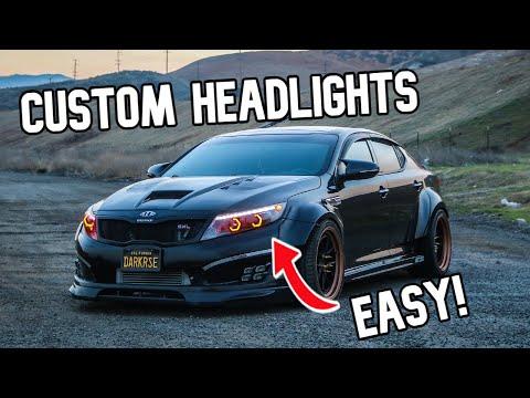 Custom Headlights KIA K5 Optima l DIY Install