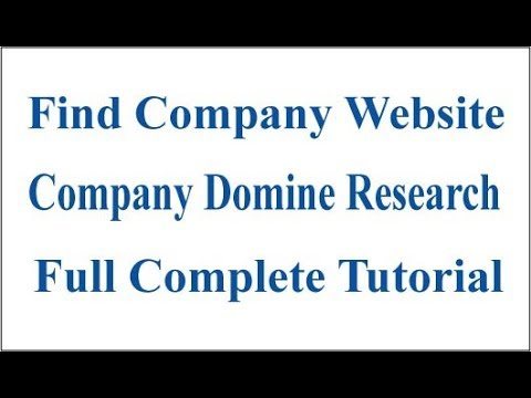 How To Find Company Domain Name Full Complete Tutorial ! Lead Generation Video