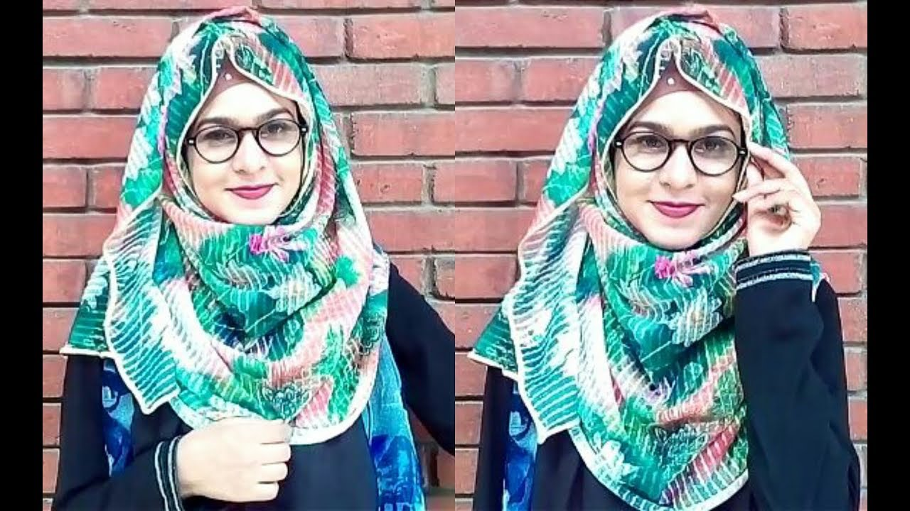 Hijab Style With Glasses Spectacles For Beginners Beauty Muna Youtube