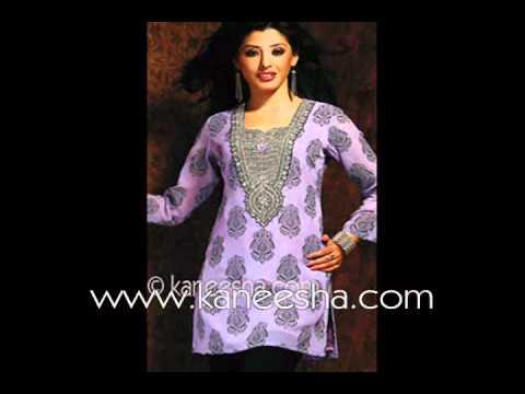 Fashion Indian Stylish Party Kurti, Silk Blend Designer Kurti