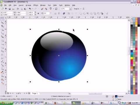 how to make a crystal ball in coreldraw.avi