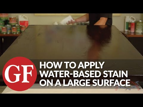 How to Apply Water Based Stain on a Large Surface
