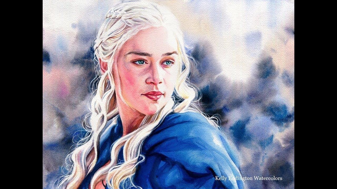 Game Of Thrones Speed Painting Daenerys Targaryen Emilia Clarke