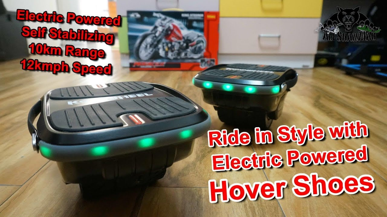 Learn to skate in 5 minutes electric powered self balancing Hover shoes