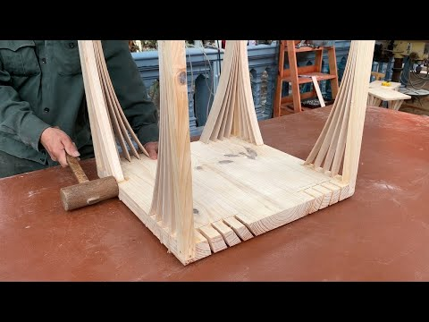 Excellent Woodworking Talent // Build A Table And Chair For An Extremely Beautiful Outdoor Campus
