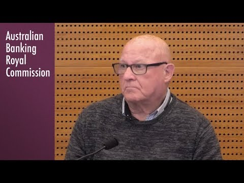 An ANZ customer testifies at the Banking Royal Commission