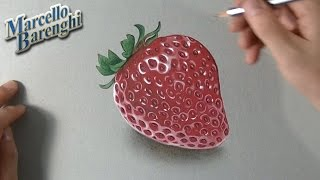 How to draw a 3D strawberry