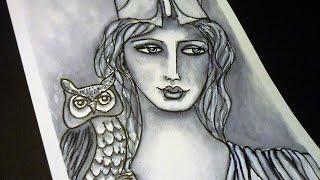 ❤ Greek Goddess Athena - Whimsical Portrait - for #CACSchoolArt