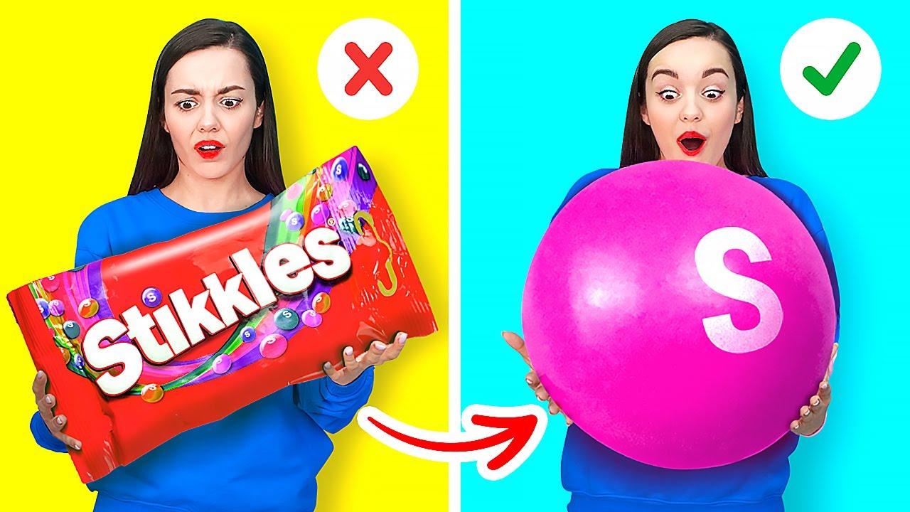 Download TRUCOS LOCOS DE 10 000 SKITTLES || Ideas y trucos coloridos de dulces de 123 GO! GOLD