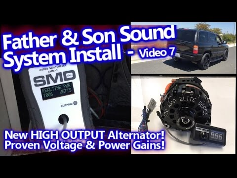 Father & Son System Install - Proven Power Upgrade - Mechman Elite 370a 6 Phase Alternator