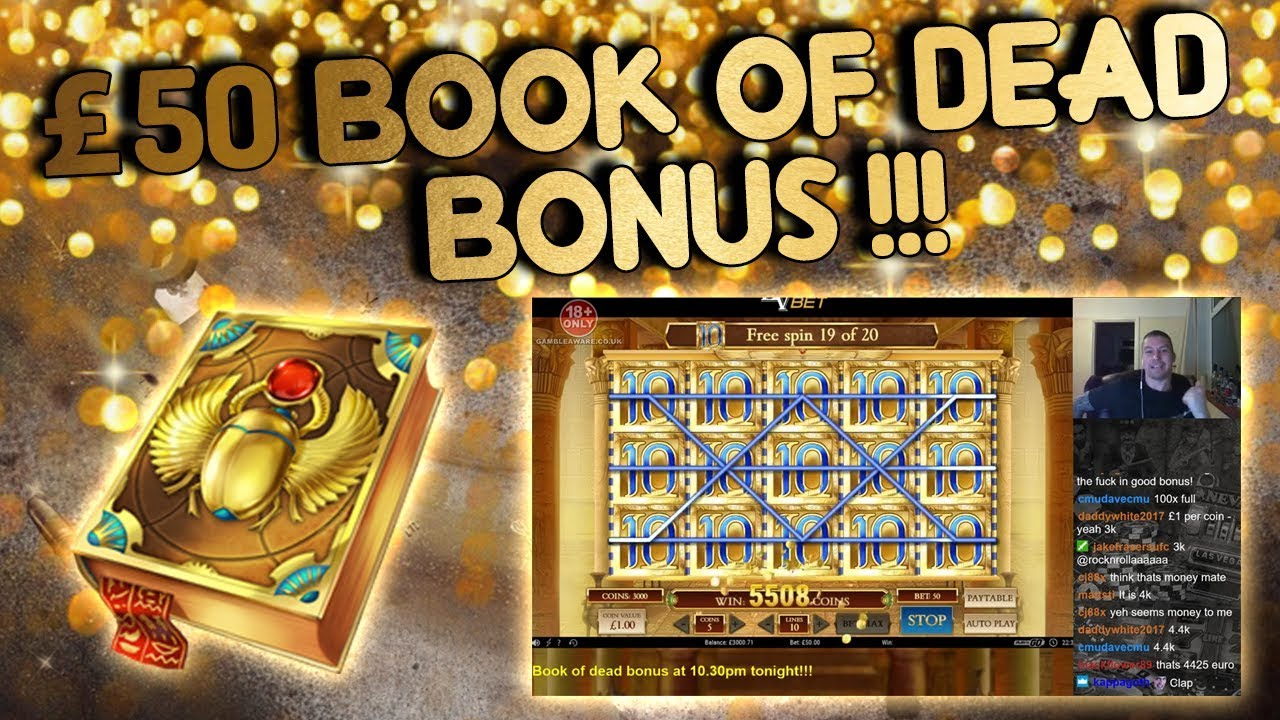 book of dead bonus
