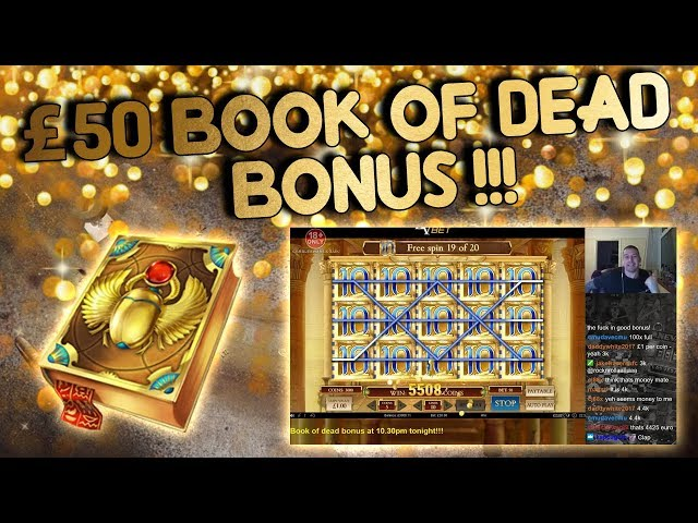 £50 Book of Dead Bonus!!!! (from live stream)