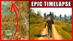 Walk Across The Map Timelapse | The Witcher 3 (Novigrad + Velen)