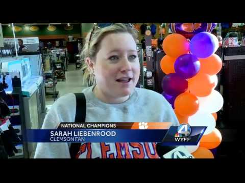 Several stores sell out of Clemson Championship gear