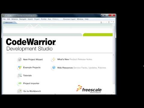 CodeWarrior Intro Create a Project and Debug Watch in HD