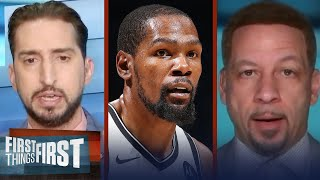 Nick Wright responds to Kevin Durant's All-Time NBA roster with his own | NBA | FIRST THINGS FIRST
