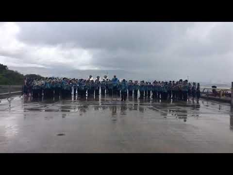 RAW VIDEO, Tucson area marching band plays in Hawaii at the Battleship Missouri Memorial