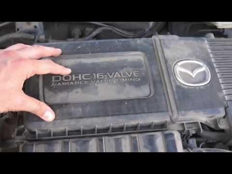 Replace engine air filter Mazda 3 / Замена воздушного фильтра двигателя Мазда 3