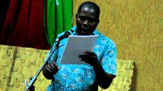 Malawi Cultural Festival Poetry Reading at the Crossroads September 2012    Pt. 1