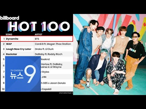 Download 방탄소년단(BTS), 한국 가수 최초 빌보드 '핫100' 1위 [뉴스9]
