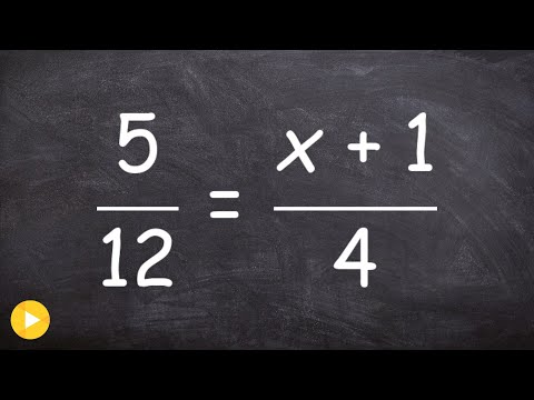 Algebra 1 - Solving a proportion with a binomial  (5/12) = (x+1)/4