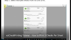 ezCheckPrinting Tutorial: How to Print 3 Checks Per Sheet