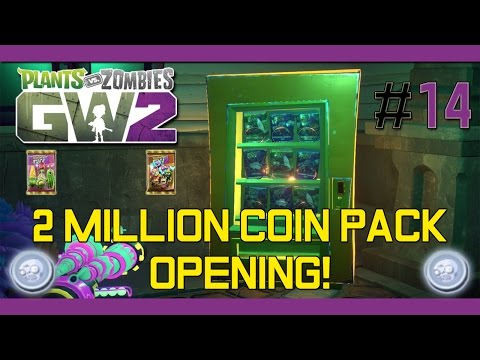 PvZ Garden Warfare 2 - Two Million Coin Pack Opening #14(Unlocked Legendary Characters)