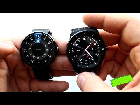 LG G Watch R vs.  Motorola Moto 360 -  Porównanie [PL]
