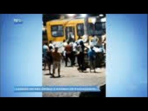 """Ladrão invade ônibus e acaba """"nocauteado"""" por passageiro"""