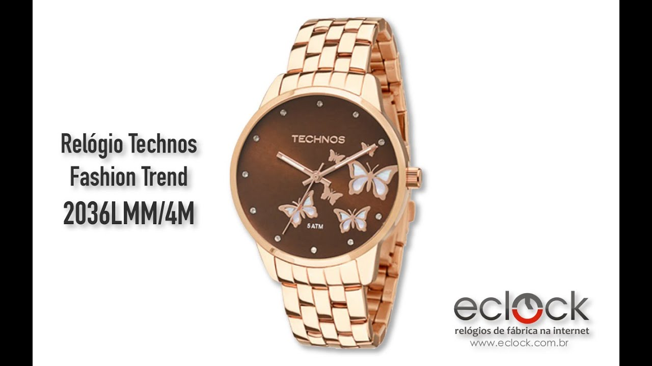 Relógio Technos Feminino Fashion Trend 2036LMM 4M - Eclock - YouTube 980267ec77