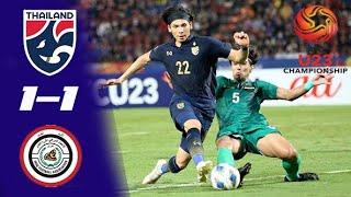 ไฮไลท์ ทีมชาติไทย 1-1 ทีมชาติอิรัก U23 Championship 2020