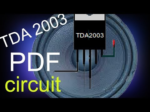 How to make a 12v amplifier, simple audio amplifier circuit PDF with TDA2003