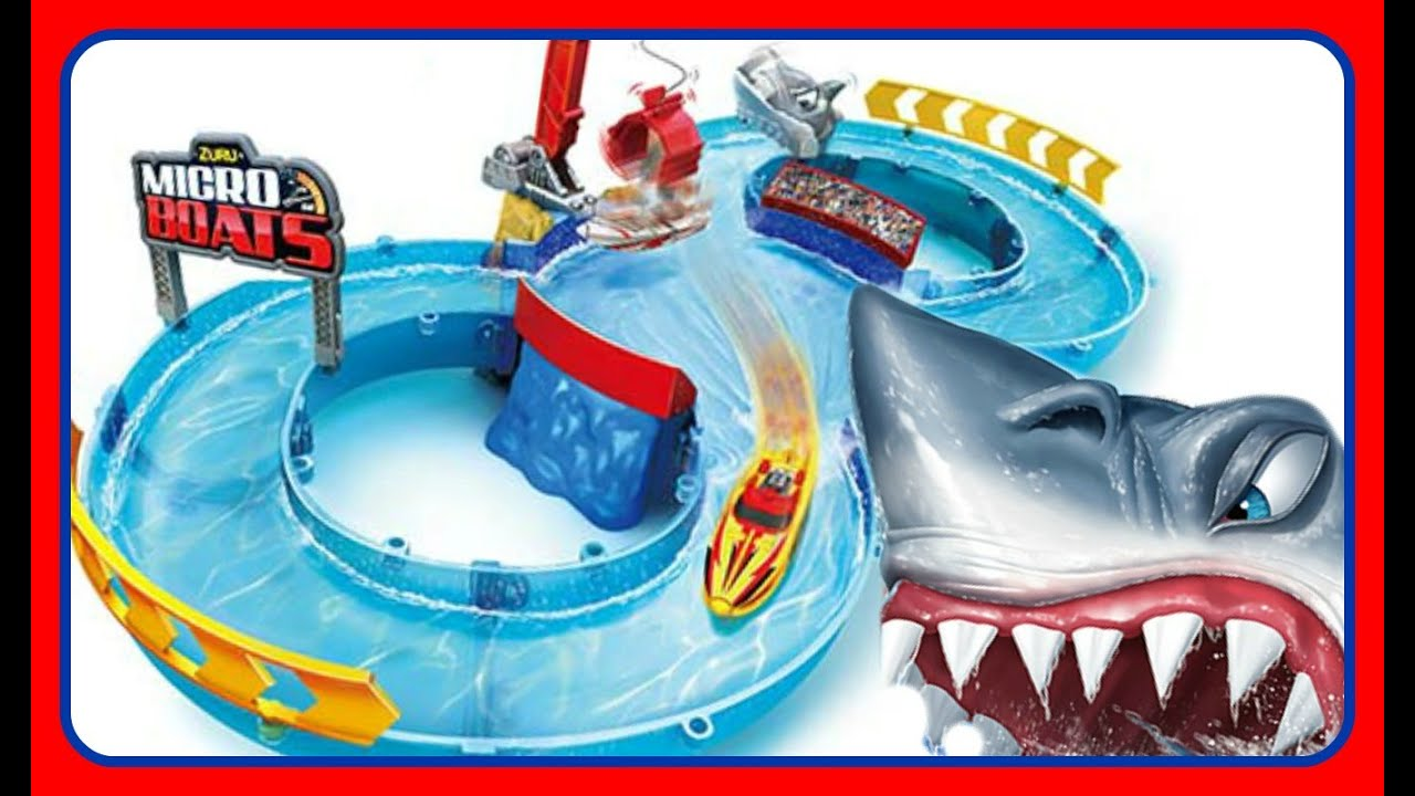 Shark Toys For Boys With Boats : Zuru micro boats racing track playset water toys for kids