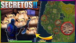 NEW SECRET PLACES WITH FORTNITE BATTLE ROYALE LEGENDARY COFRES - HIDDEN *NEW MAP*