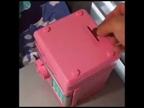 PIGGY BANK DEPOSIT BOX - CASH & COINS SAVINGS