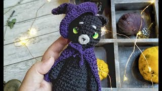 Crochet Halloween cat free amigurumi pattern / Видео