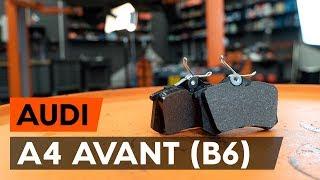 Kaip pakeisti Stabdžių Kaladėlės AUDI A4 Avant (8E5, B6) - internetinis nemokamas vaizdo