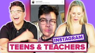 A Teacher Grades A Teen's Instagram