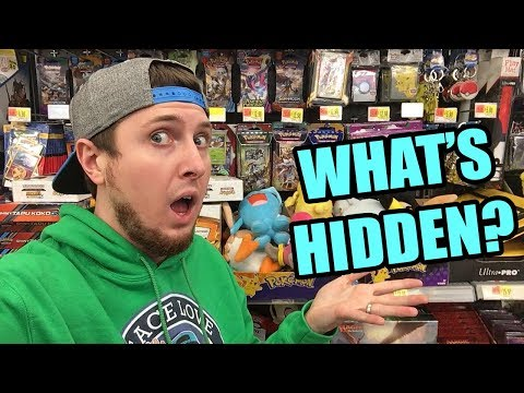 HIDDEN POKEMON CARDS SEARCHING AT THE STORE! WHAT PACKS DID