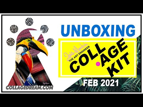 Unboxing Collage Kit February 2021 / Luis Martin / The Art Engineer