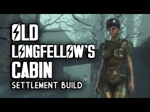 Old Longfellow's Cabin Efficiency Settlement Build - Fallout 4 Far Harbor
