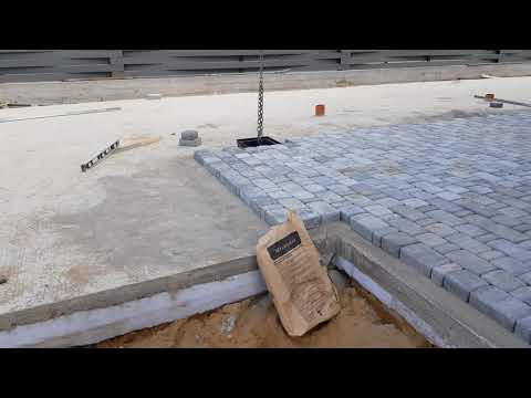 Тротуарная плитка на бетонное основание,правильный пирог.