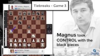 Carlsen-Karjakin, New York 2016, Tiebreaks: Carlsen retains his title