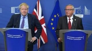 Watch again: Boris Johnson and Jean-Claude Juncker deliver statement on Brexit deal